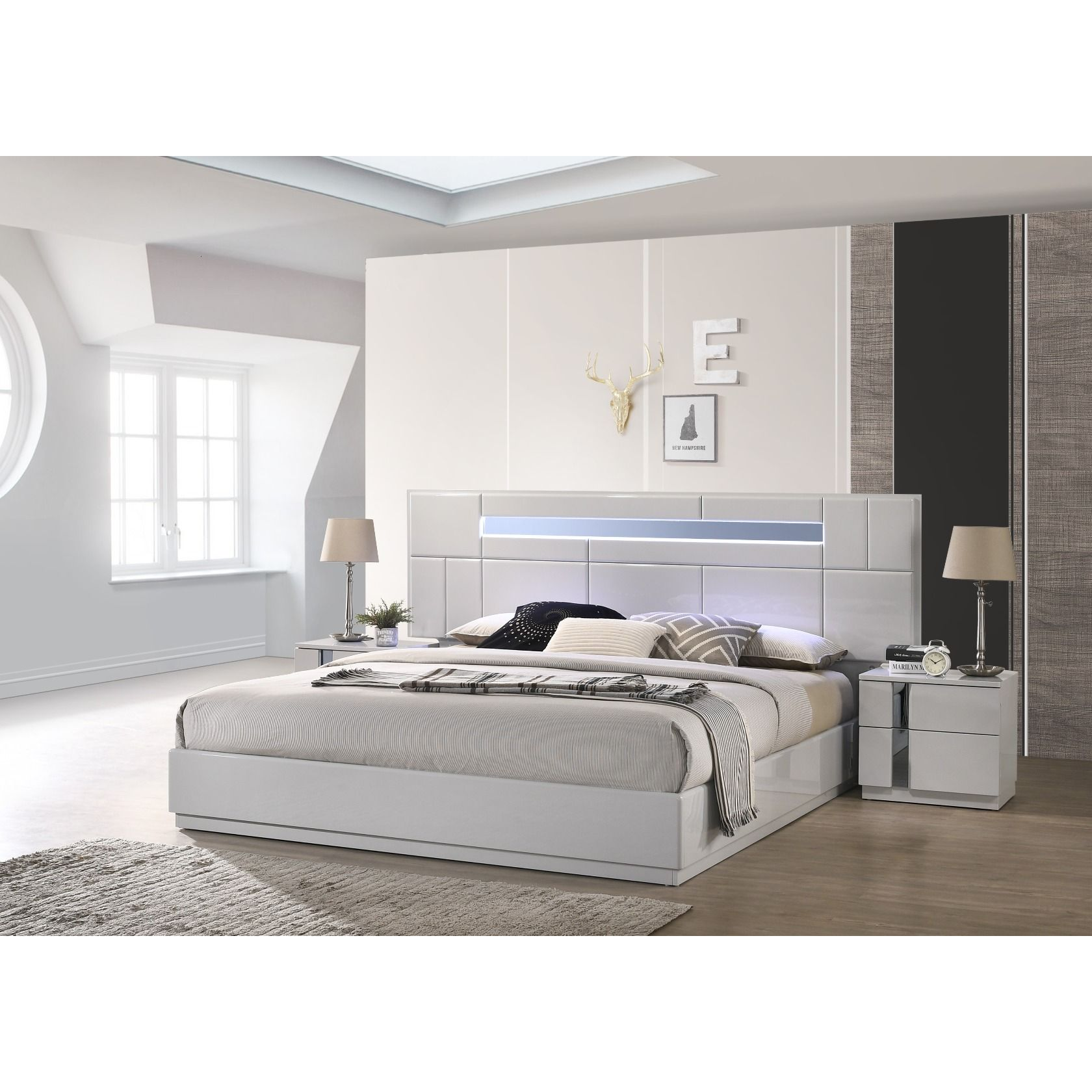 ✅ Palermo Grey Queen Size Bed | BostonConcept.com