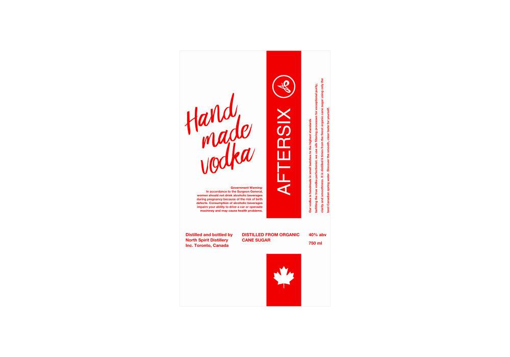 vodka packaging label