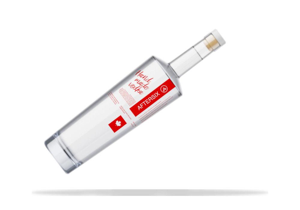 vodka packaging slant bottle
