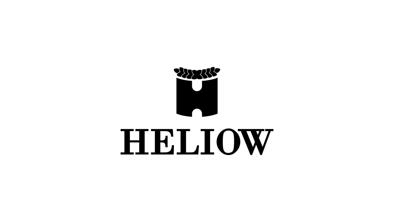 heliow logo in black and white