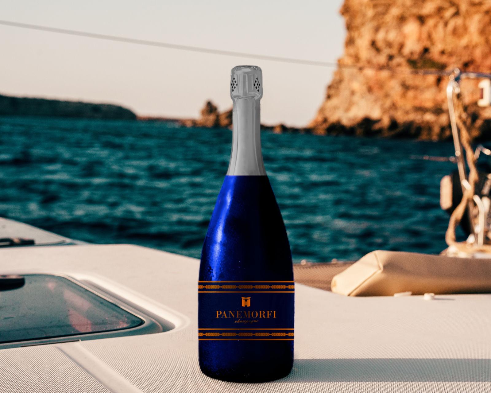 wine bottle on ship