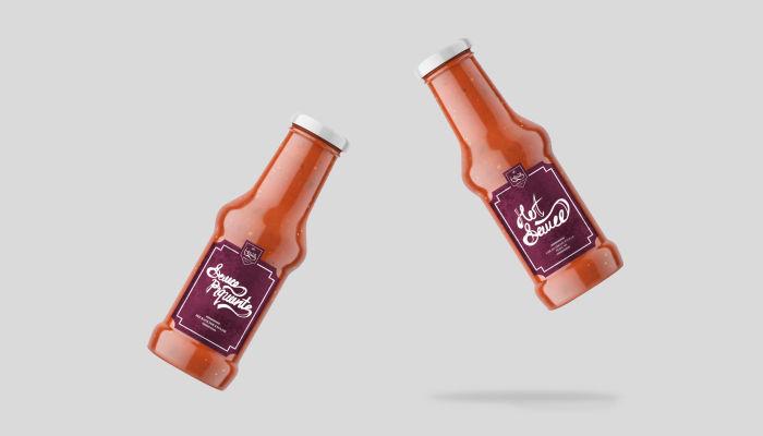 hot sauce packaging design