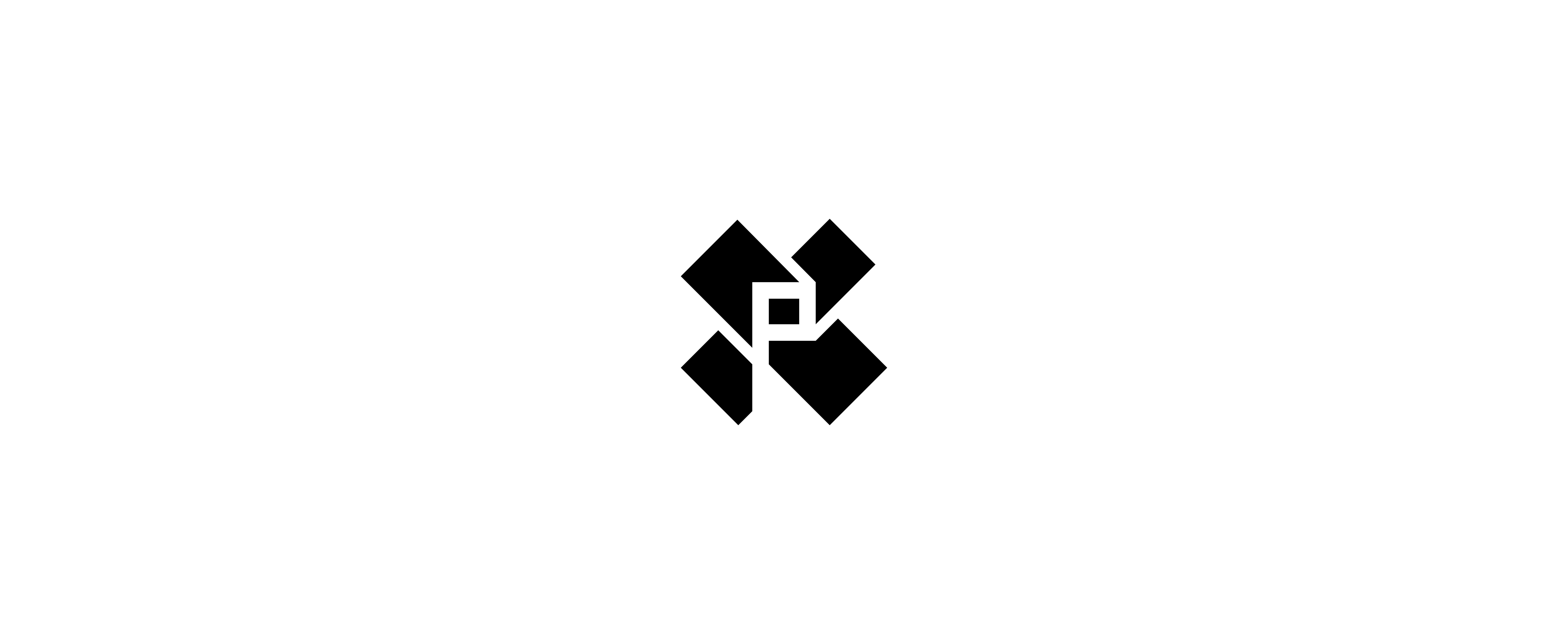 logomark in black and white