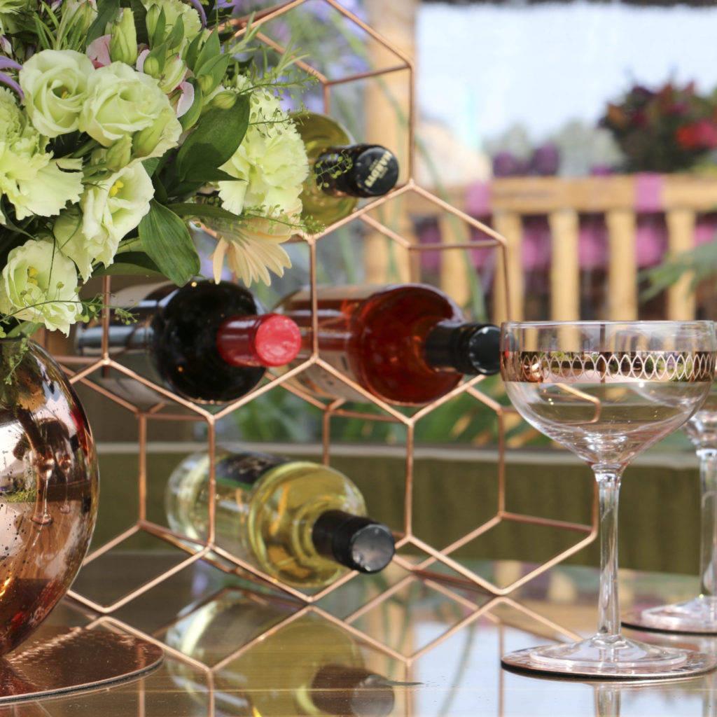 Wine rack inside a Breeze House Savanna