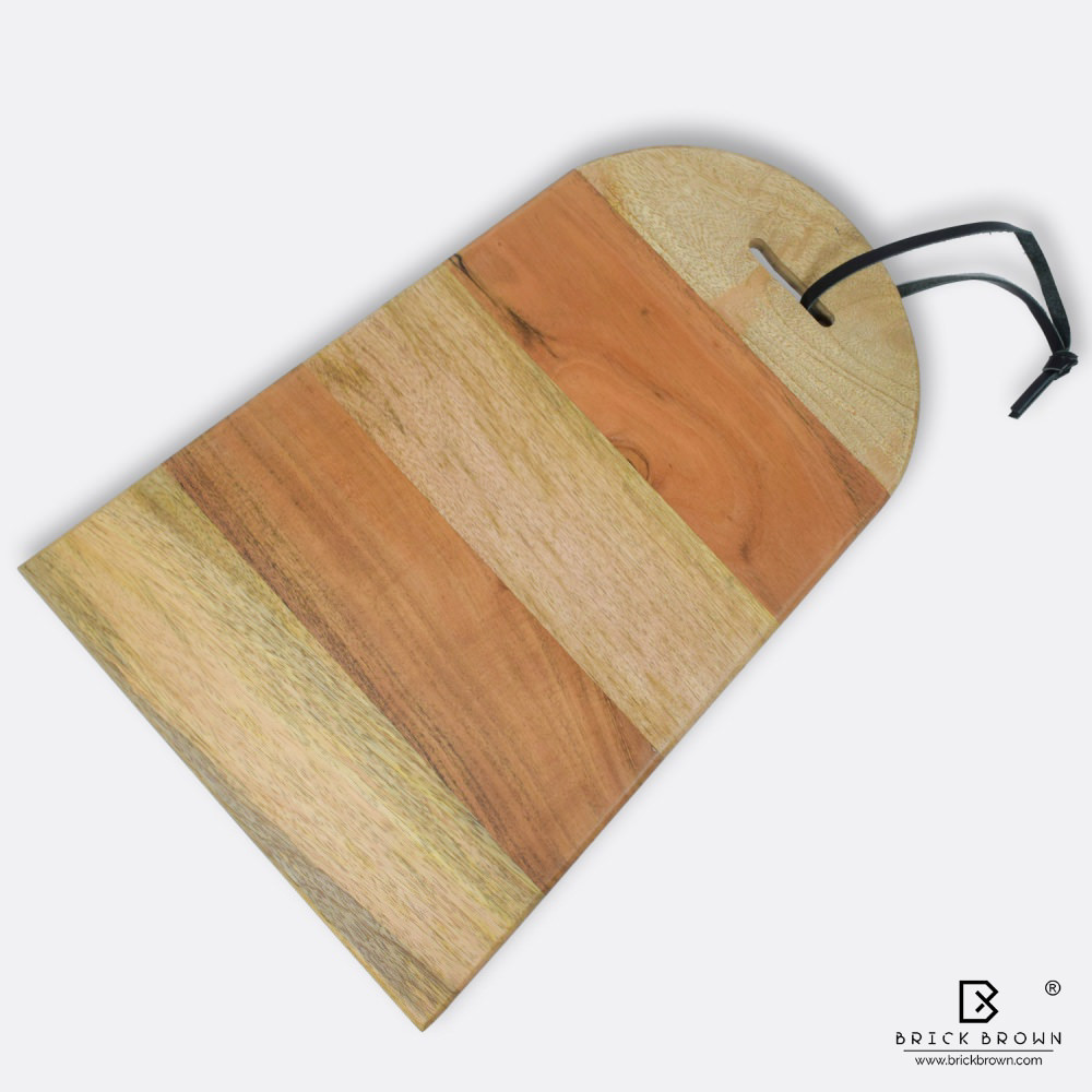 BB0013 3 Brick Brown Wooden Chopping Board