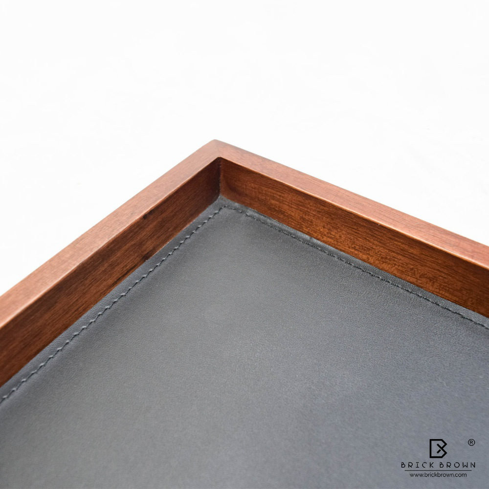 BB0271 6 Brick Brown Wooden Serving Tray