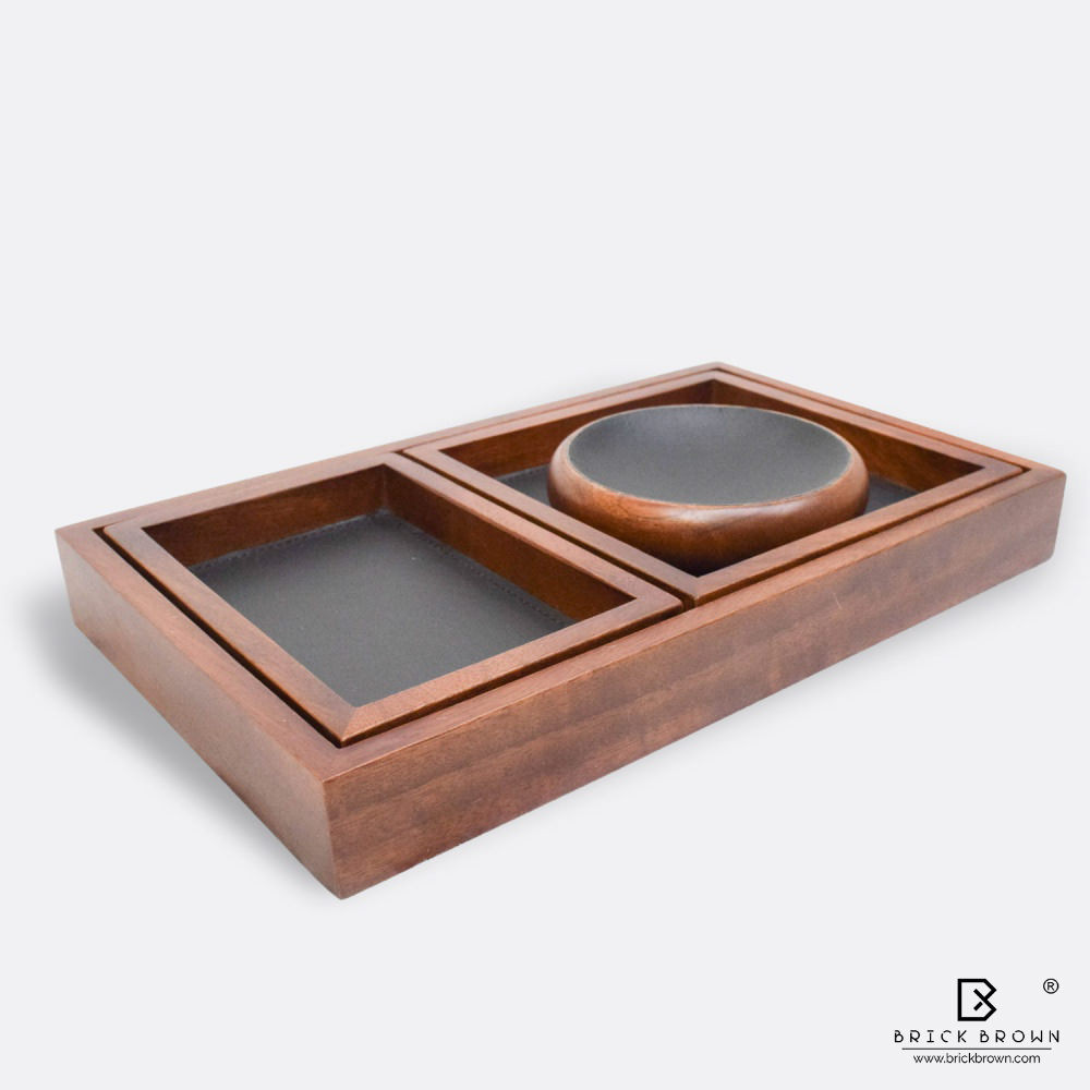 BB0271 8 Brick Brown Wooden Serving Tray