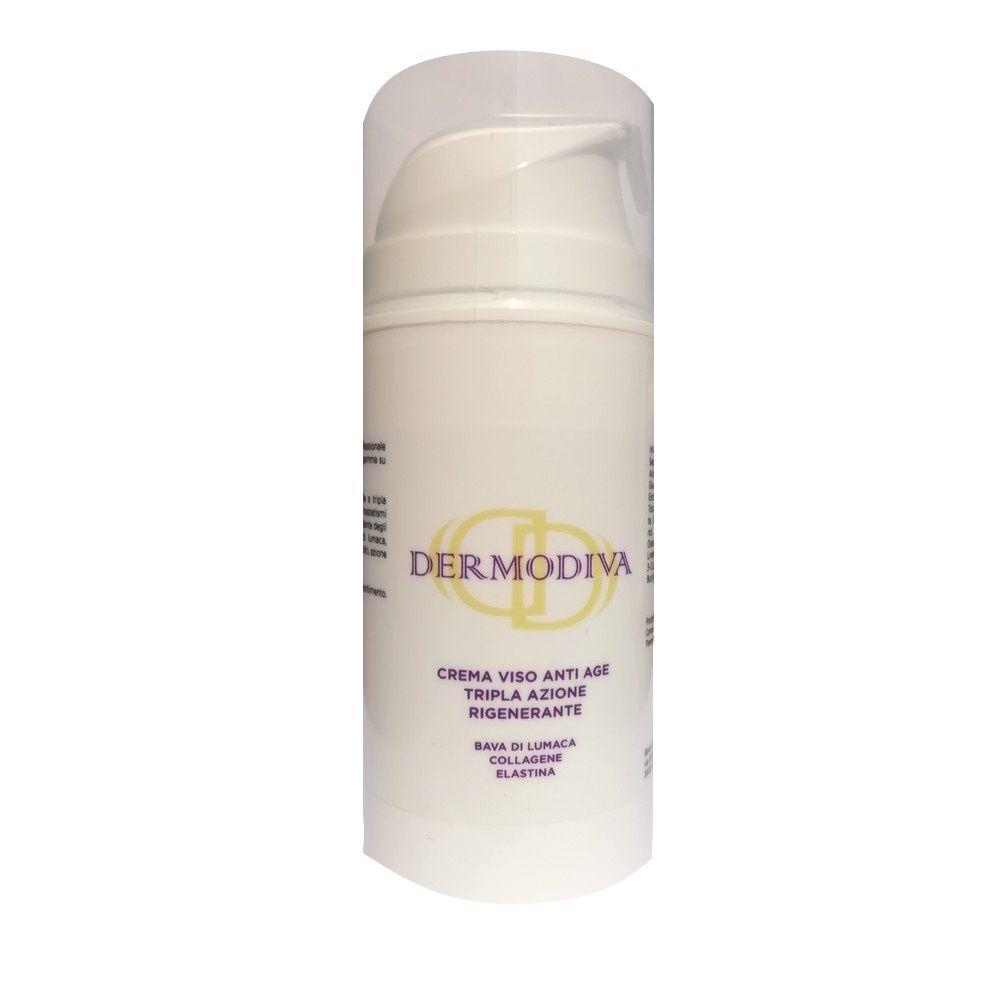 Dermodiva Crema viso anti age tripla azione rigenerante bava di lumaca