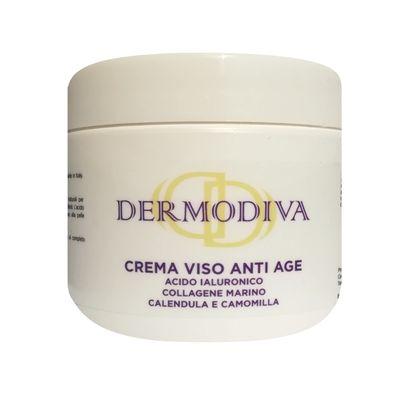 Dermodiva Crema viso anti age acido ialuronico, collagene, camomilla, calendula