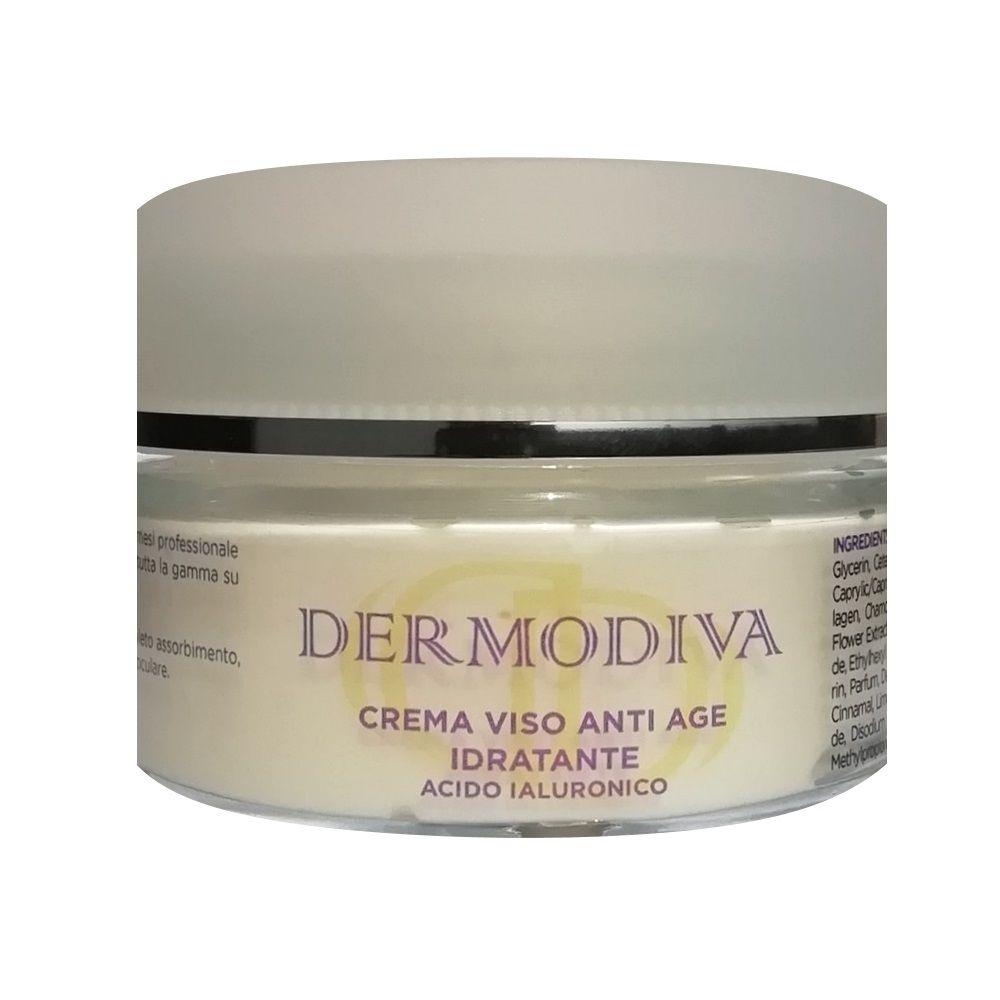 Dermodiva Crema viso anti age idratante acido ialuronico