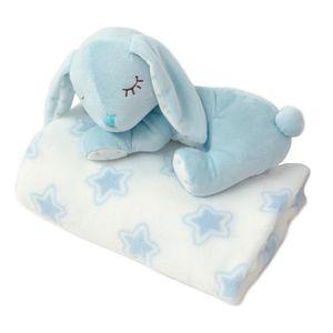 Kiokids Copertina neonato con peluche 0m+ azzurro