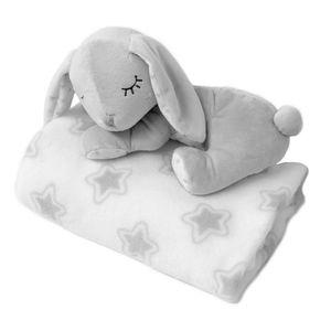 Kiokids Copertina neonato con peluche 0m+ grigio