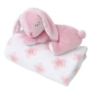 Kiokids Copertina neonato con peluche 0m+ rosa