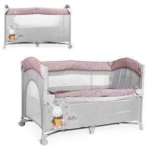 MS Oxford lettino culla co-sleeping 630402 rosa e grigio