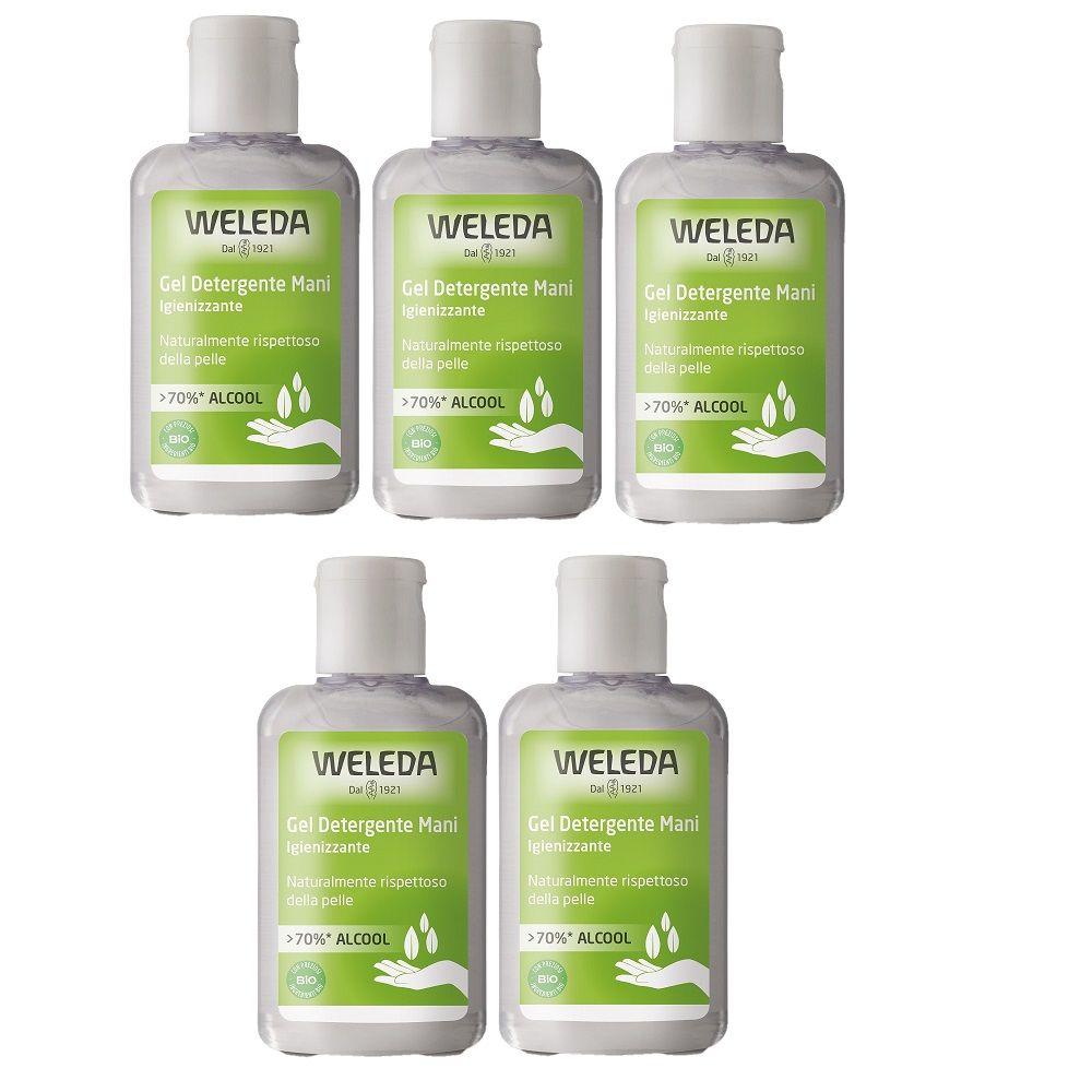 Weleda Gel detergente bio igienizzante mani 5x80ml