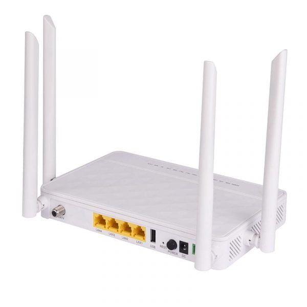 4ge Catv Dual Band Wireless Xpon Ont Bt-713xr Fiber Onu