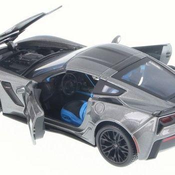 2017 Corvette Grand Sport Gray Metallic With Blue Stripes 1/27 Collector Car