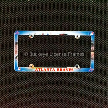 Atlanta Braves Full Color Plastic License Plate Frame