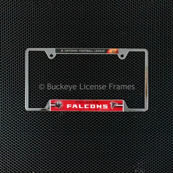 Atlanta Falcons Chrome License Plate Frame - Metal