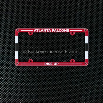 Atlanta Falcons Full Color Plastic License Plate Frame