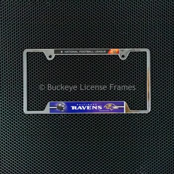 Baltimore Ravens Chrome License Plate Frame - Metal