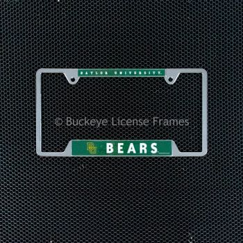 Baylor University Bears Chrome License Plate Frame - Metal
