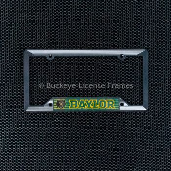 Baylor University Black Plastic License Plate Frame