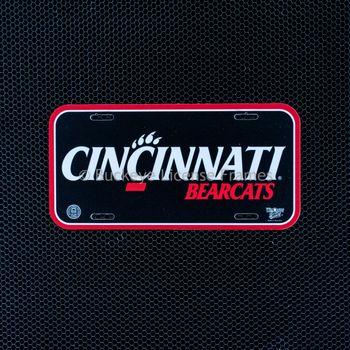 "University of Cincinnati ""Cincinnati Bearcats"" Plastic License Plate"