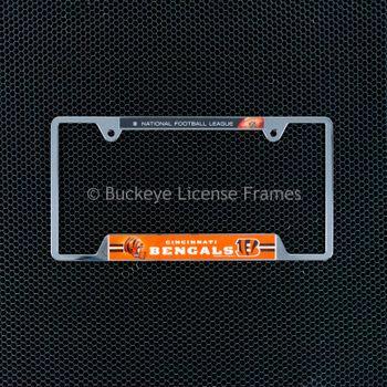 Cincinnati Bengals Chrome License Plate Frame - Metal