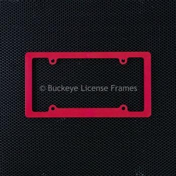 Blank Standard Rim Red Plastic License Plate Frame