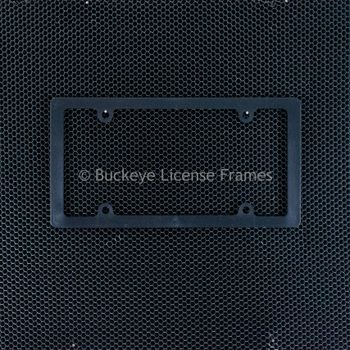 Blank Thin Rim Black Plastic License Plate Frame