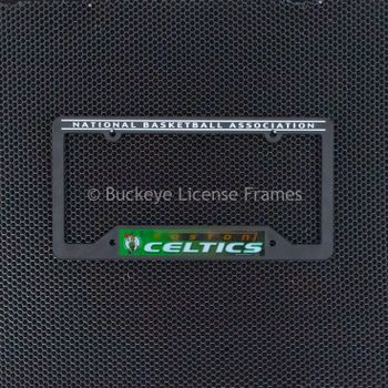 Boston Celtics Black Plastic License Plate Frame