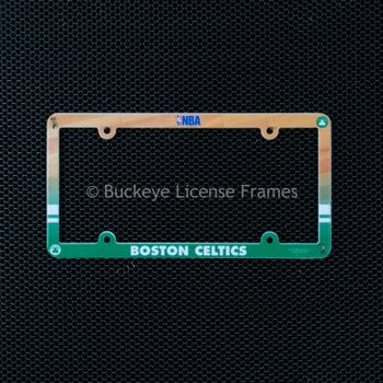 Boston Celtics Full Color Plastic License Plate Frame