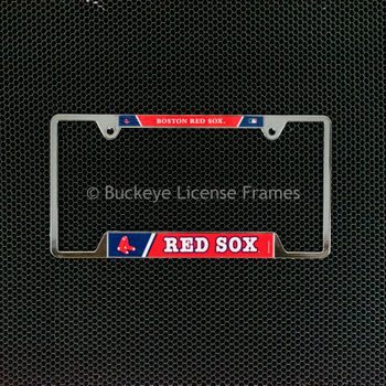 Boston Red Sox Chrome License Plate Frame - Metal