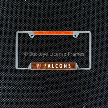 Bowling Green State University Chrome License Plate Frame - Metal