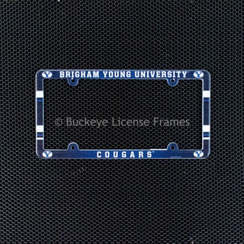 Brigham Young University Cougars Full Color Plastic License Plate Frame