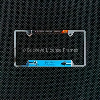 Carolina Panthers Chrome License Plate Frame - Metal