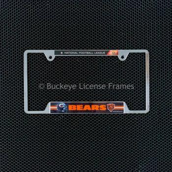 Chicago Bears Chrome License Plate Frame - Metal