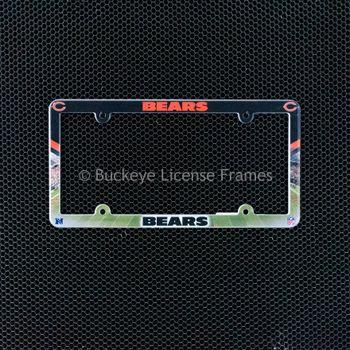 Chicago Bears Full Color Plastic License Plate Frame