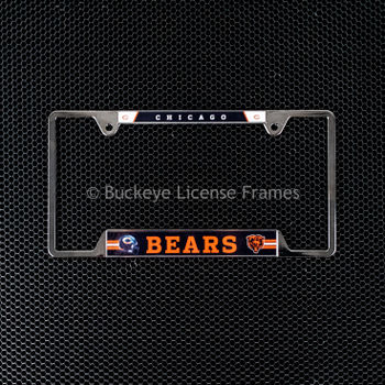 Chicago Bears Chrome Metal License Plate Frame - Chicago Top