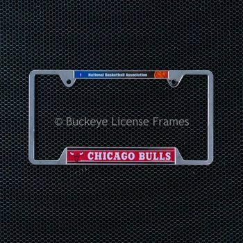 Chicago Bulls Chrome License Plate Frame - Metal