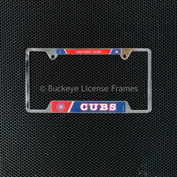 Chicago Cubs Chrome License Plate Frame - Metal