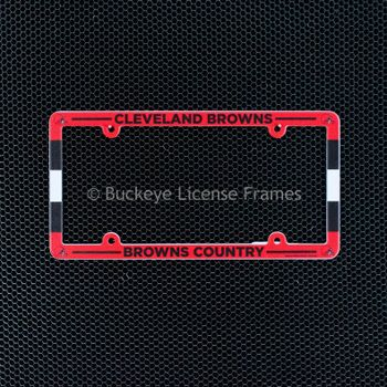 Cleveland Browns Country Full Color Plastic License Plate Frame