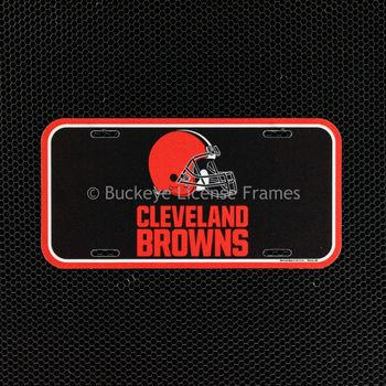 Cleveland Browns Logo Helmet Plastic License Plate
