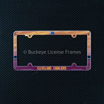 Cleveland Cavaliers Full Color Plastic License Plate Frame