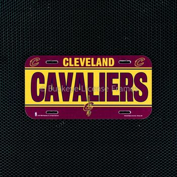 """Cleveland """"CAVALIERS"""" Plastic License Plate"""