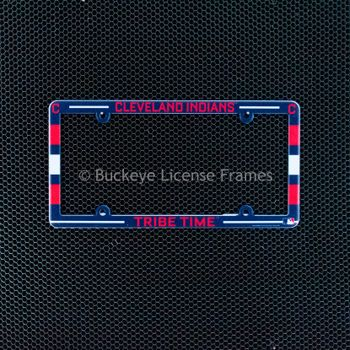 Cleveland Indians Full Color Plastic License Plate Frame-Tribe Time