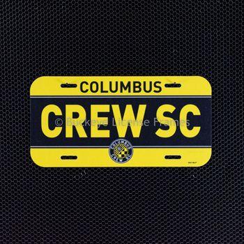 """Columbus Crew """"CREW SC"""" Plastic License Plate"""