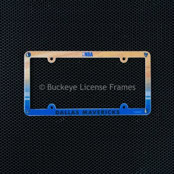 Dallas Mavericks Full Color Plastic License Plate Frame