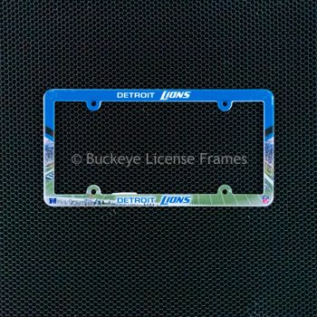 Detroit Lions Full Color Plastic License Plate Frame